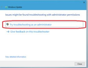 troubleshooter-as-administration
