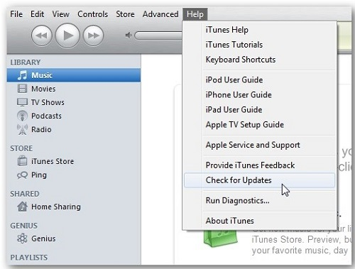 Upgrading iTunes on Computer