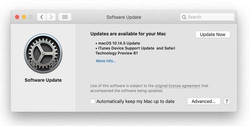 Updating Mac
