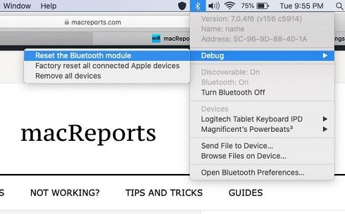 Resetting your Mac's Bluetooth module