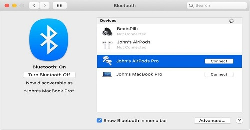 Deny the AirPods with Mac as a Bluetooth System