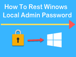 How To Reset Local Admin Password Windows 7?